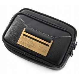 Мъжка чантичка еко кожа с джобове и цип, за закачане на колан