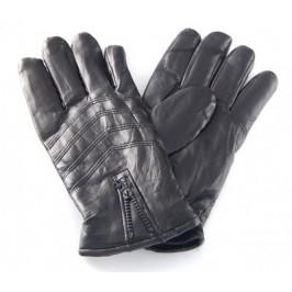 Ръкавици с пет пръста - мека еко кожа, с декоративен цип за регулиране широчината на китката