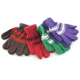 Плетени дамски ръкавици - райе, с еластичен маншет