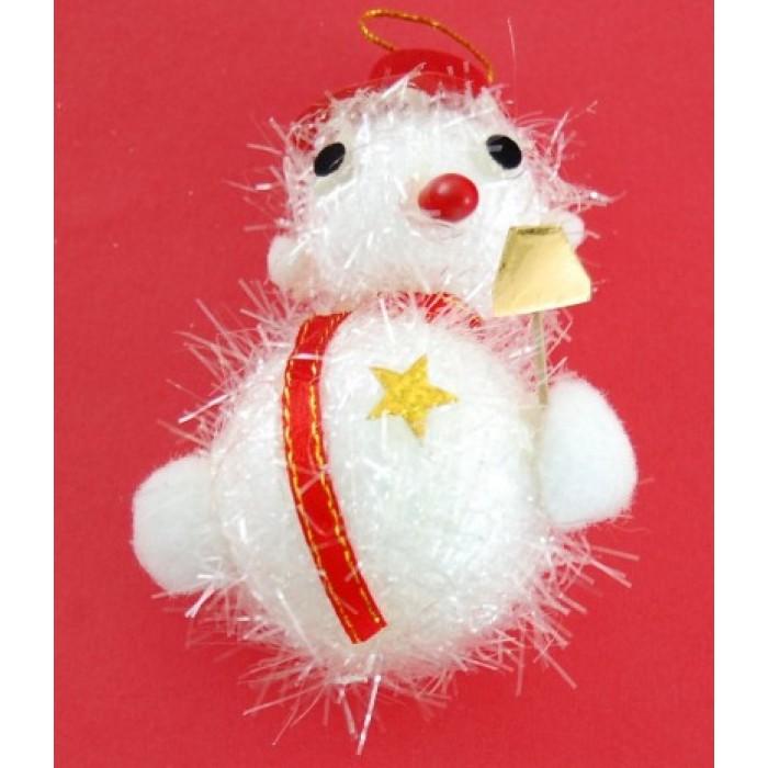 Коледна украса аа елха - снежен човек