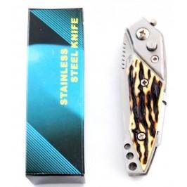 Сгъваем джобен нож с автоматично отваряне и фенер
