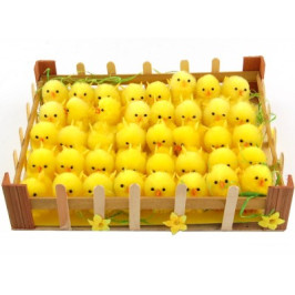 Декоративни фигурки Великденски пиленца - 5см