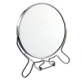 Двойно въртящо се огледало със стабилна метална рамка и една увеличаваща страна - 12см