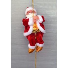 Музикална фигурка - Дядо Коледа, висящ на въже
