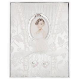 Луксозен сватбен фотоалбум с декорации за 100 снимки в красива кутия без капак