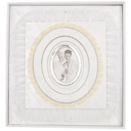 Луксозен сватбен фотоалбум с декорации с 40 листа със самозалепващ прозрачен филм в красива кутия без капак