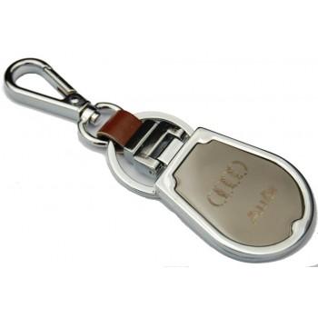 Ключодържател, изработен от метал и изкуствена кожа с емблема на AUDI