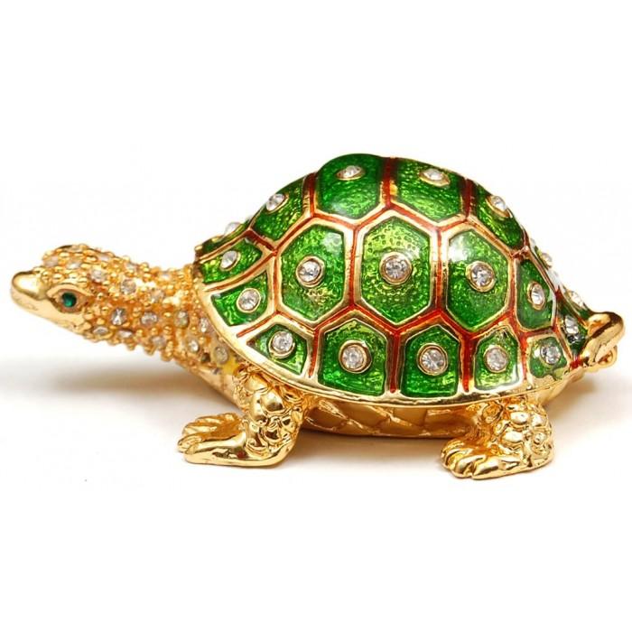 Декоративна метална кутийка за бижута - костенурка