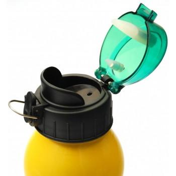 Лека и здрава алуминиева бутилка с капачка на винт, подходяща за колоездене