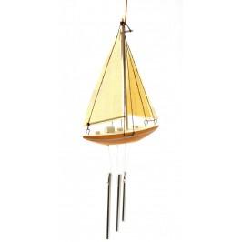 Вятърен чан с формата на платноходка за разсейване на негативна енергия
