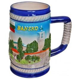 Сувенирна чаша порцелан с релефни изгледи от Банско