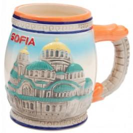Сувенирна релефна чаша от порцелан - София
