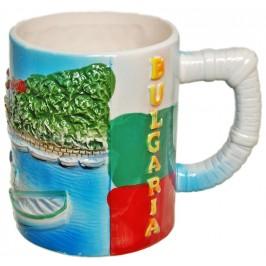 Сувенирна чаша порцелан с релефни забележителности от Созопол