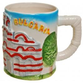Сувенирна релефна чаша от порцелан - Несебър