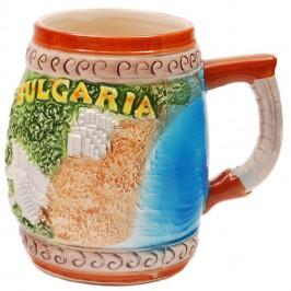 Сувенирна релефна чаша от порцелан - България