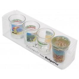Комплект от четири броя сувенирни чаши с декорация