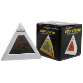 Настолен електронен часовник с тънък дисплей - пирамида