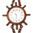 Сувенирен стенен часовник - рул с верига и котва