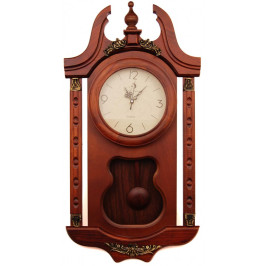 Декоративен стенен часовник - дърво, с махало