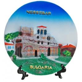 Релефна сувенирна чинийка - църква в Несебър