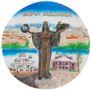 Релефна сувенирна чинийка - София