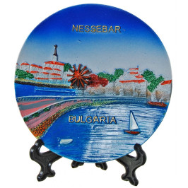 Релефна сувенирна чинийка - провлакът в Несебър