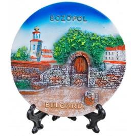 Релефна сувенирна чинийка - руини в Созопол