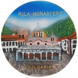 Релефна сувенирна чинийка - Рилски манастир