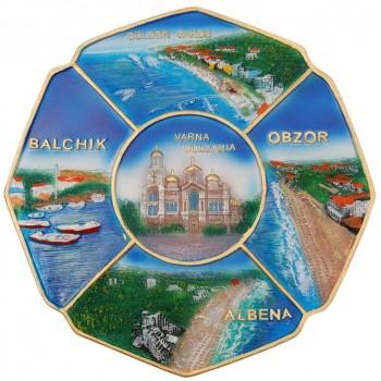 Сувенирна релефна чиния - изгледи от Черноморието