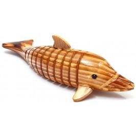 Сувенирна дървена фигурка - делфин гъвкав
