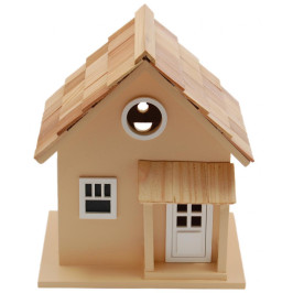 Макет на дървена къщичка за птички