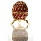 Декоративна метална кутийка за бижута - яйце на Фаберже