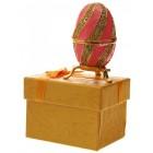 Декоративна метална кутийка за бижута, инкрустирано с камъни