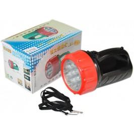 Диоден акумулаторен фенер с два режима на светене и удобна ръкохватка - 13 диода