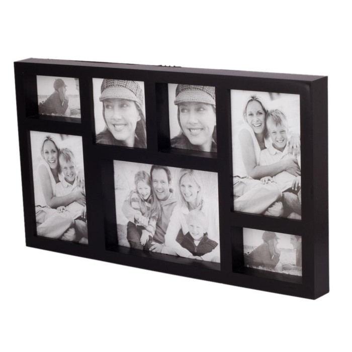 Красива мултирамка за 7 снимки, изработена от PVC материал и фронт стъкло