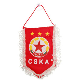 Сувенирен триъгълен от плат с емблема и надпис на ЦСКА