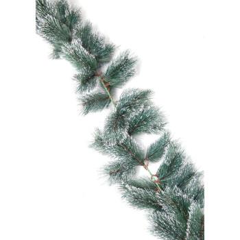Коледна украса - зелен гирлянд от изкуствени клонки