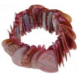Красива цветна гривна от миди - седеф на ластична основа