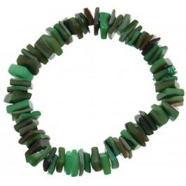 Красива гривна от цветни миди - зелени - на ластична основа