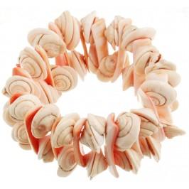 Красива гривна от цветни миди на ластична основа