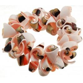 Красива гривна от цветни миди и рапанчета на ластична основа