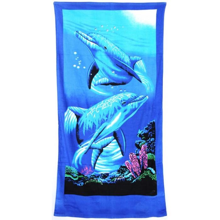 Плажна хавлия - два делфина
