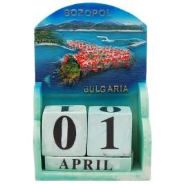 Сувенирен декоративен календар с релеф на Созопол