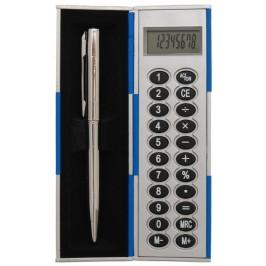 Нестандартен електронен калкулатор с капак и химикал