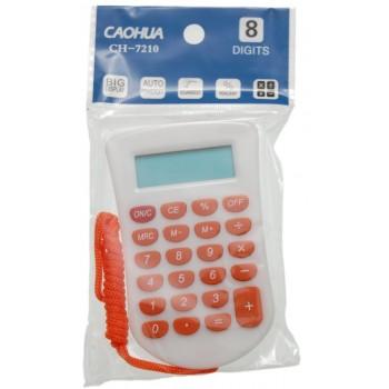 Електронен калкулатор с цветно въже за врат