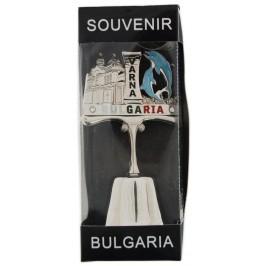 Сувенирна камбанка с магнит и декорация - два делфина и Варненската катедрала