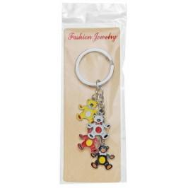 Сувенирен метален ключодържател - четири мечета в различен цвят