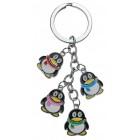 Сувенирен метален ключодържател - четири пингвина