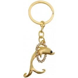 Сувенирен метален ключодържател - делфин в кръг