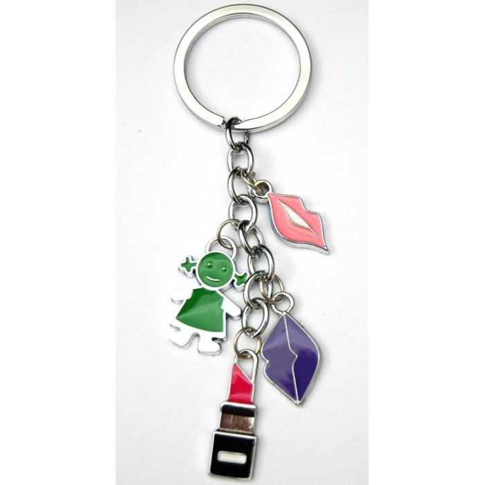 Сувенирен метален ключодържател - четири фигурки
